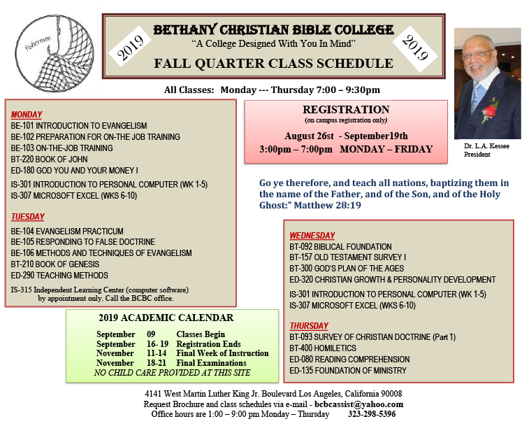 Bethany Christian Bible College Los Angeles